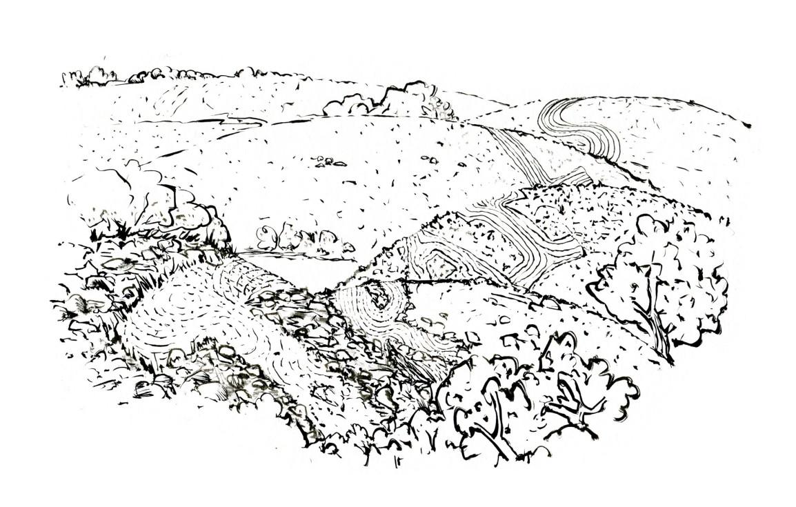 Hiking trail sketch