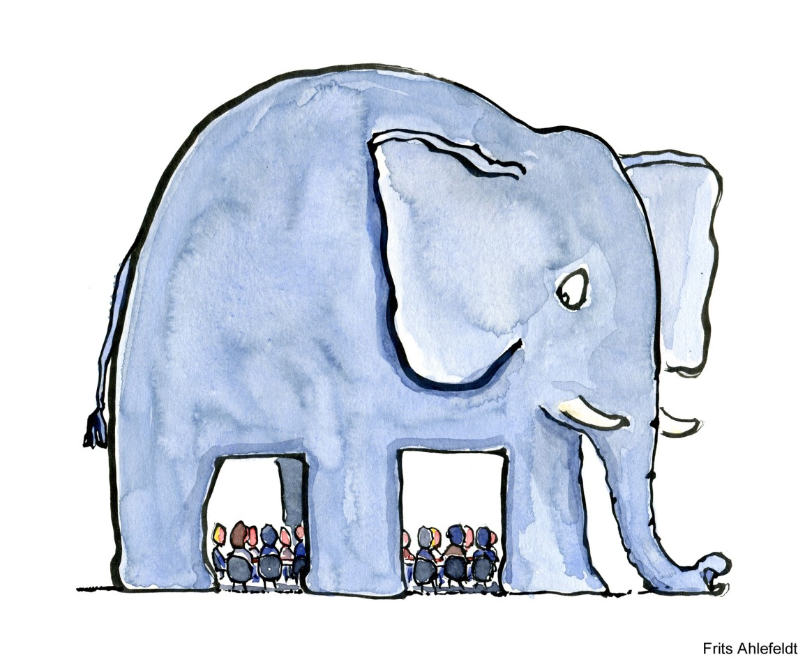 Walking away from the elephant room