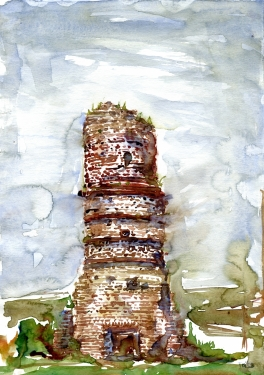 Watercolor of an old Chimney