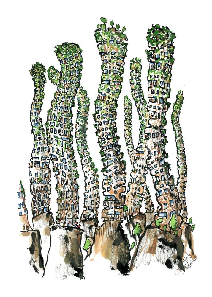 Green organic buildings