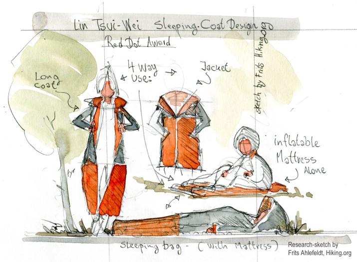 Lin Tsui Wei rain-jacket and sleeping bag, research