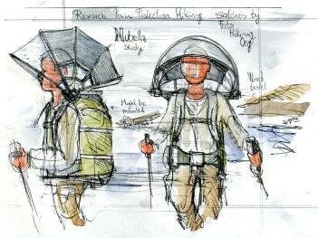 Sketch of the Nubrella umbrella design
