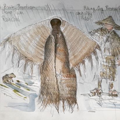 Traditional hemp clothing illustration