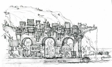 aqua-duct-green-building-sideview-pencil-concept-sketch-by-frits-ahlefeldt