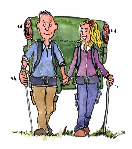 double-backpack-hiking-couple-tandem-color-illustration-by-frits-ahlefeldt