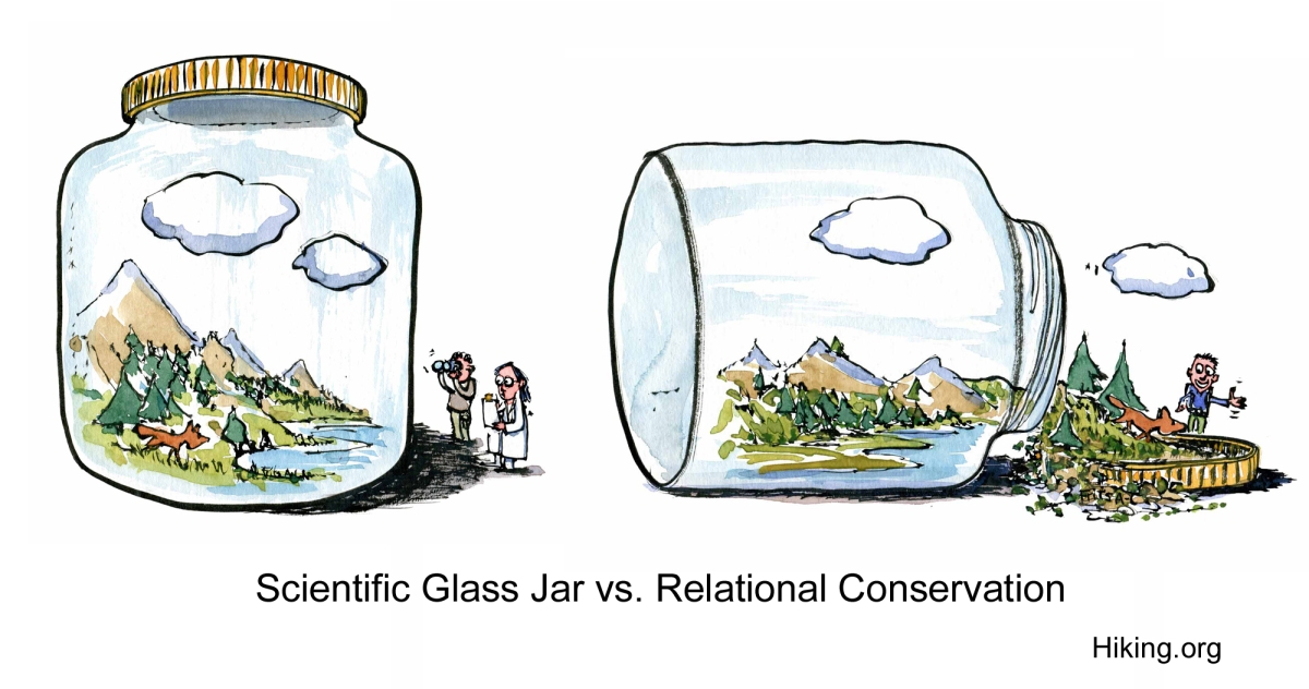 Scientific glass jar vs relational nature conservation