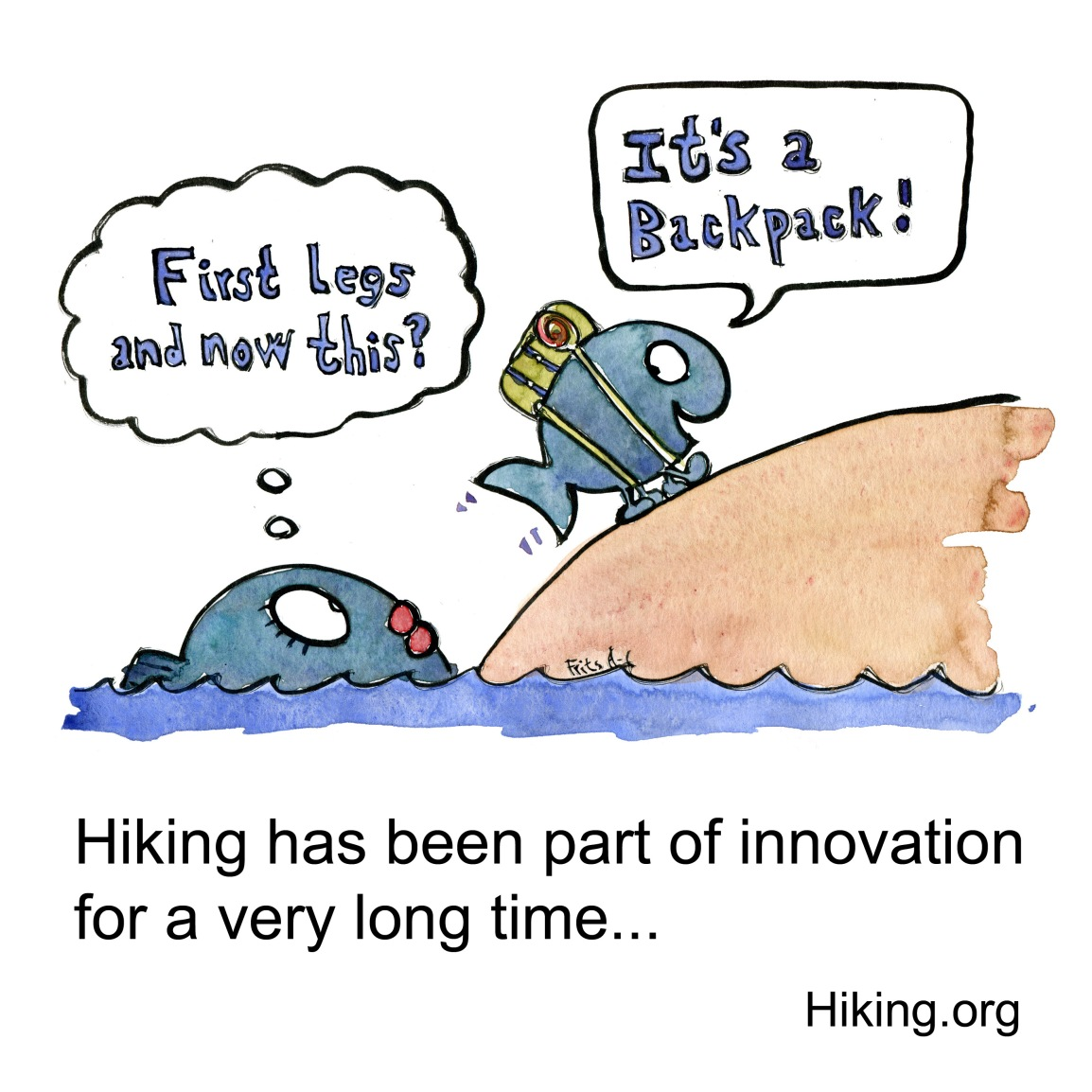 Hiking and innovation through evolution