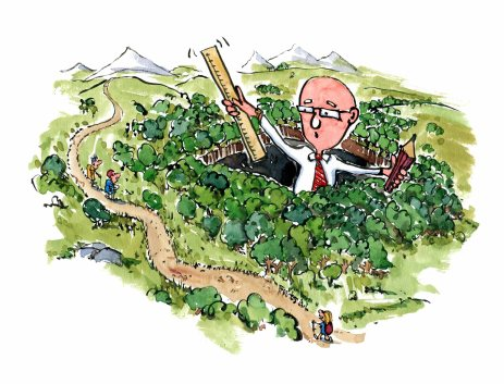 hiking-trails-and-landscape-planning-man-color-illustration-by-frits-ahlefeldt