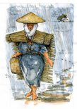 japanese-traditional-straw-rain-cover-illustration-by-frits-ahlefeldt