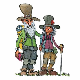 Hiker types old hikers
