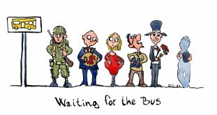 waiting-for-the-bus-color-illustration-by-frits-ahlefeldt