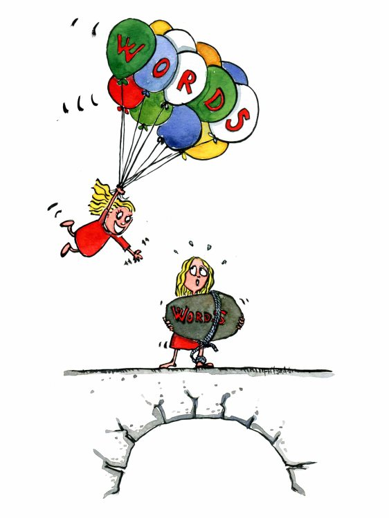 words-as-ballons-and-stones-communication-illustration-by-frits-ahlefeldt