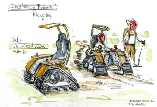 Drawing of a electrical caterpillar vehicle