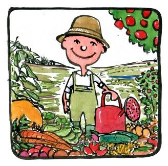 food-caretaker-plants-drawing-by-frits-ahlefeldt