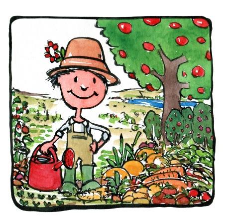 food-caretaker-pot-plants-drawing-by-frits-ahlefeldt