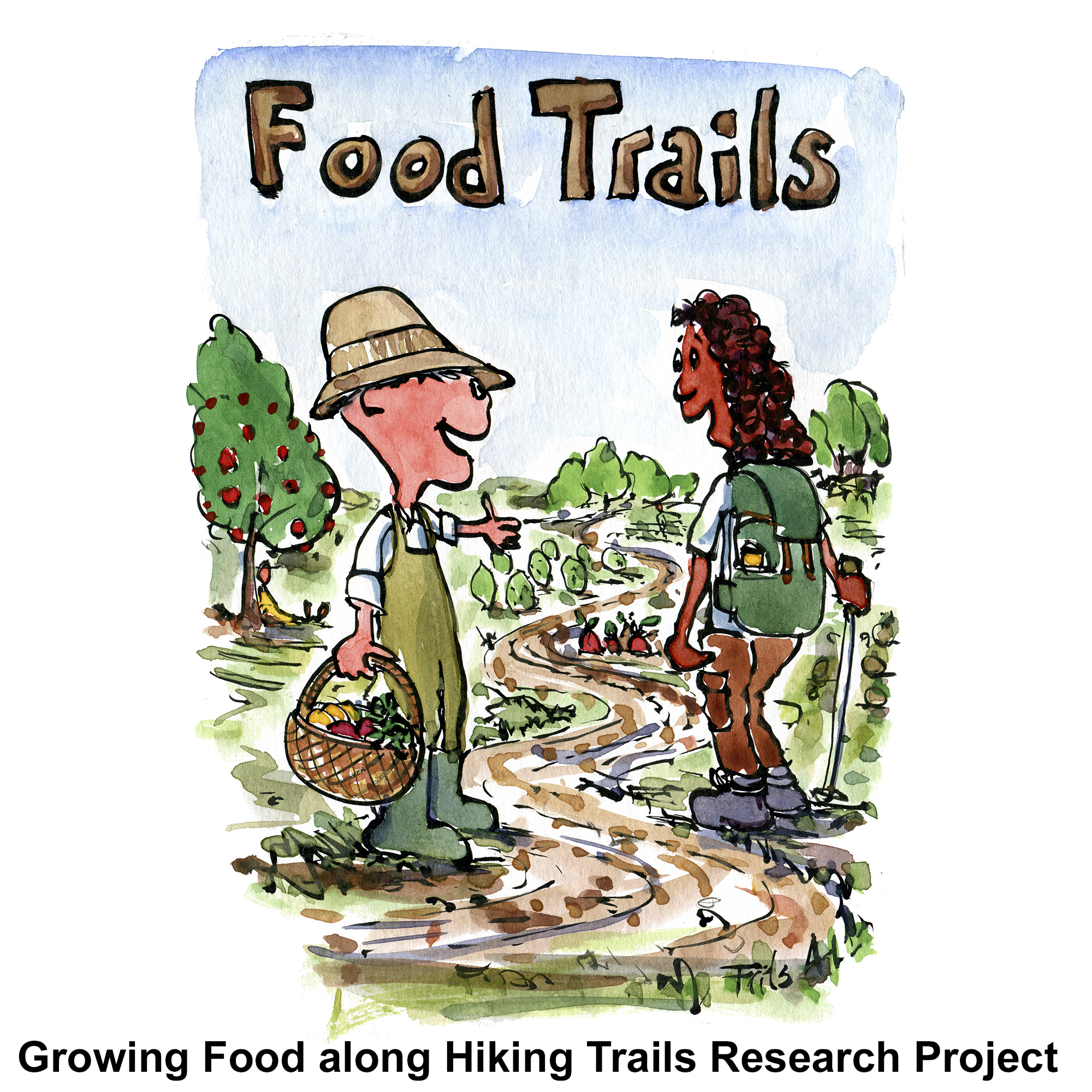 Research on edible hiking trails