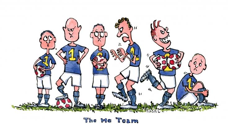 Team each with their own ball