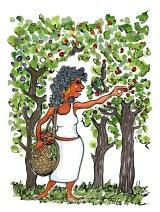 walking-woman-picking-fruit-wild-food-illustration-by-frits-ahlefeldt