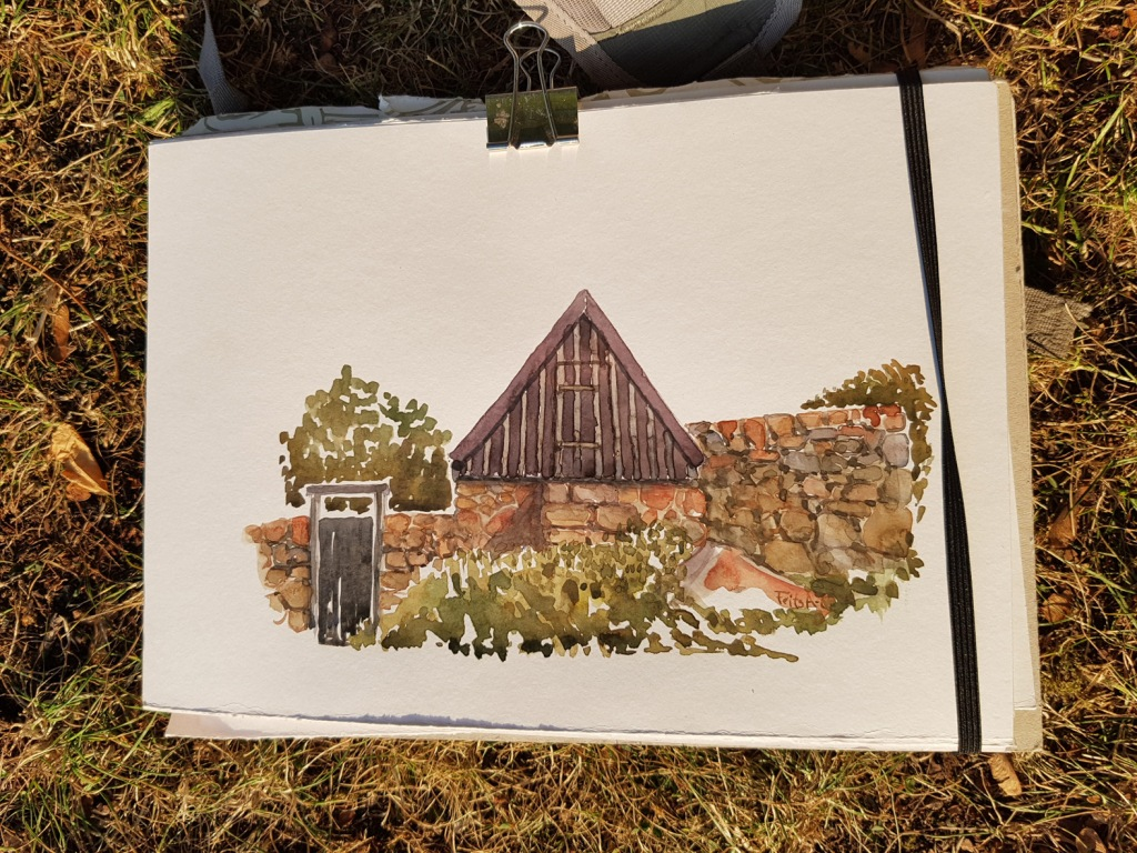 Watercolor of an old house