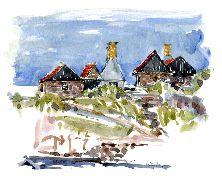 Traditional Herring Fish Smokehouses on Ertholmene