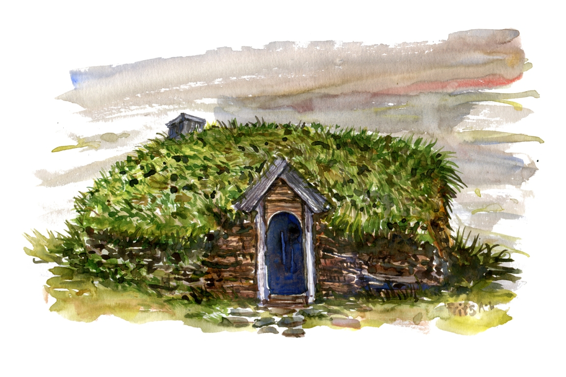 Viking house inspiration sketch for shelter