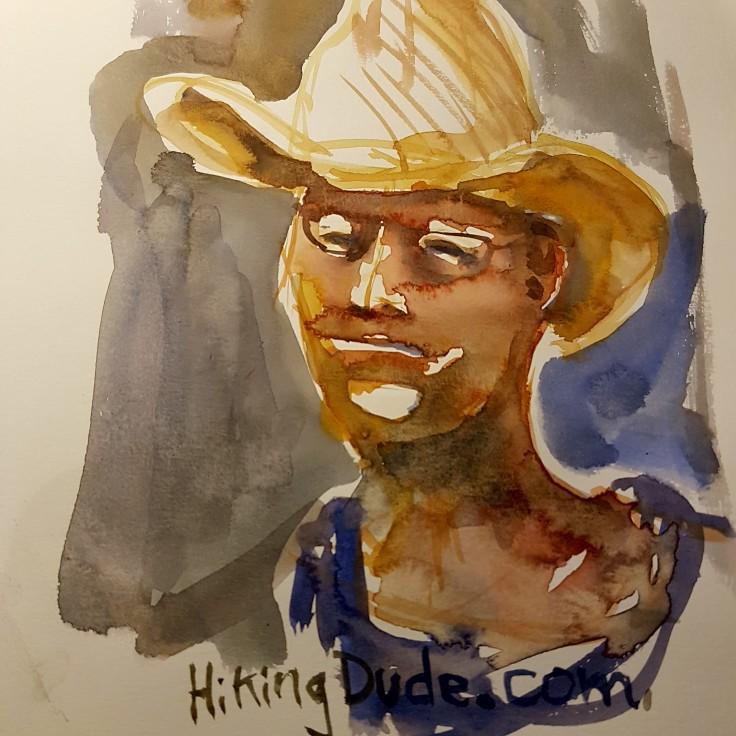 hikingdude-watercolor by Frits Ahlefeldt