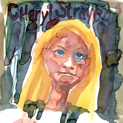 Watercolor sketch of Cheryl Strayed