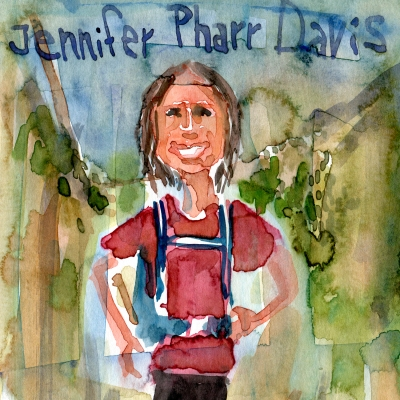 Watercolor sketch of Jennifer Pharr Davis