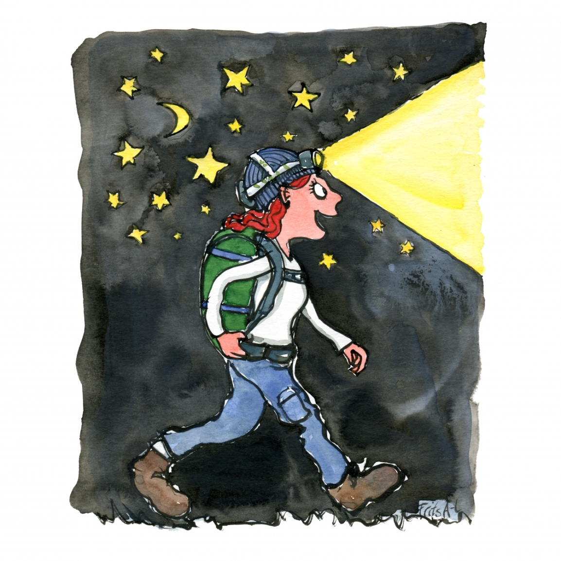 Night hiker