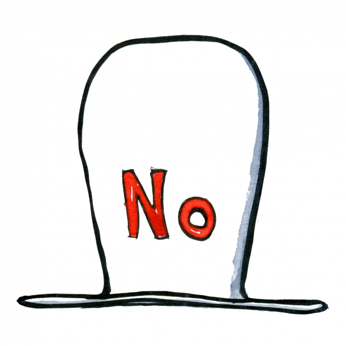 Drawing of a No hat
