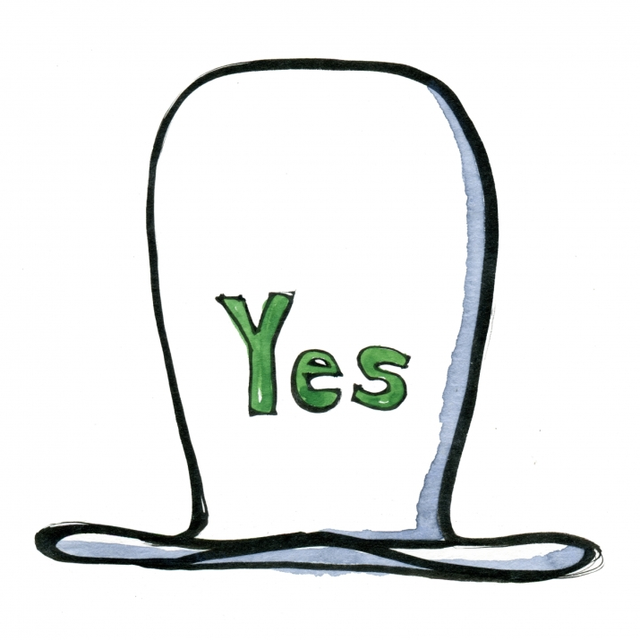 Drawing of a yes hat