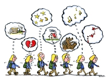 different-thoughts-while-walking-hiking-mindset-illustration-by-frits-ahlefeldt
