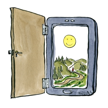 digital-door-to-outdoors-smartphone-gate-technology-illustration-by-frits-ahlefeldt