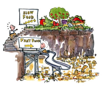 eating-healthy-food-stairs-vs-fast-food-slide-diet-illustration-by-frits-ahlefeldt