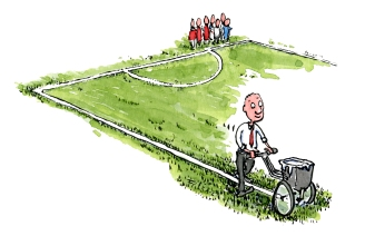 Man lining up a place (sports)