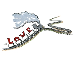 love-train-uphill-pushing-thrive-illustration-by-frits-ahlefeldt