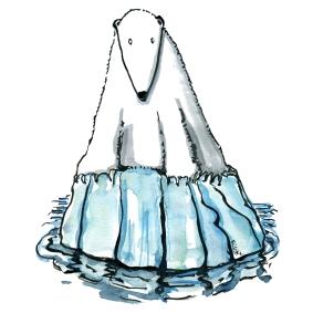 polar-bear-on-ice-flake-climate-change-biodiversity-illustration-by-frits-ahlefeldt