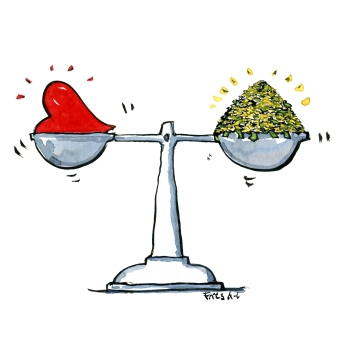 scale-heart-vs-money-illustration-by-frits-ahlefeldt