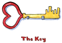 Illustration of a key shaped as a heart