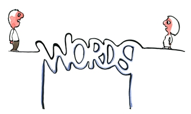 Bridge of words, spelled with letters