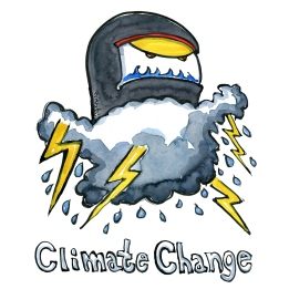 Drawing of a climate change monster