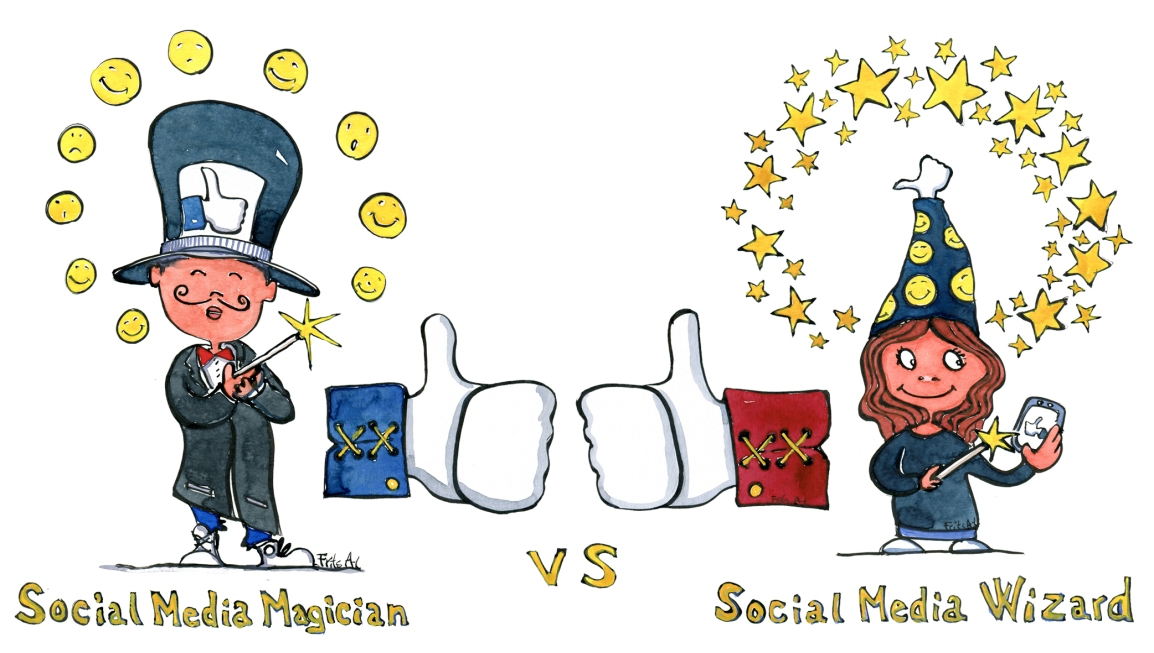 Social media guides – Magician vs Wizard