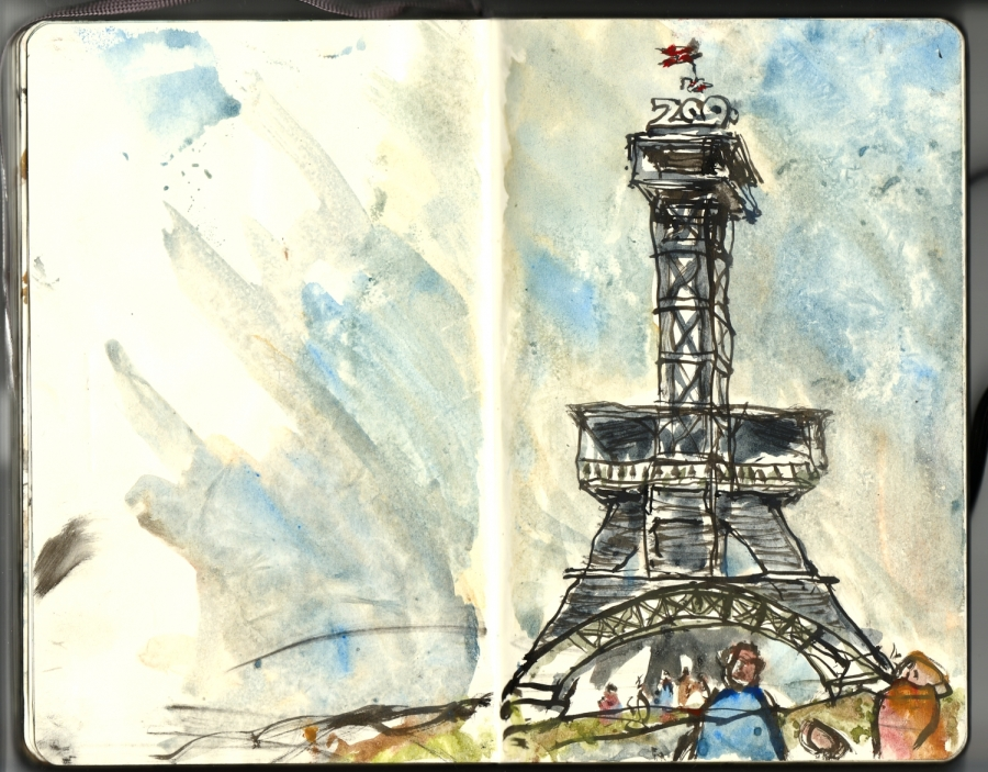 Sketching up special places, tower in a zoo