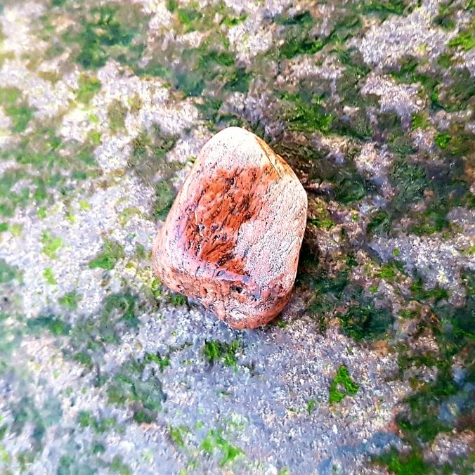 Small red granite pebble