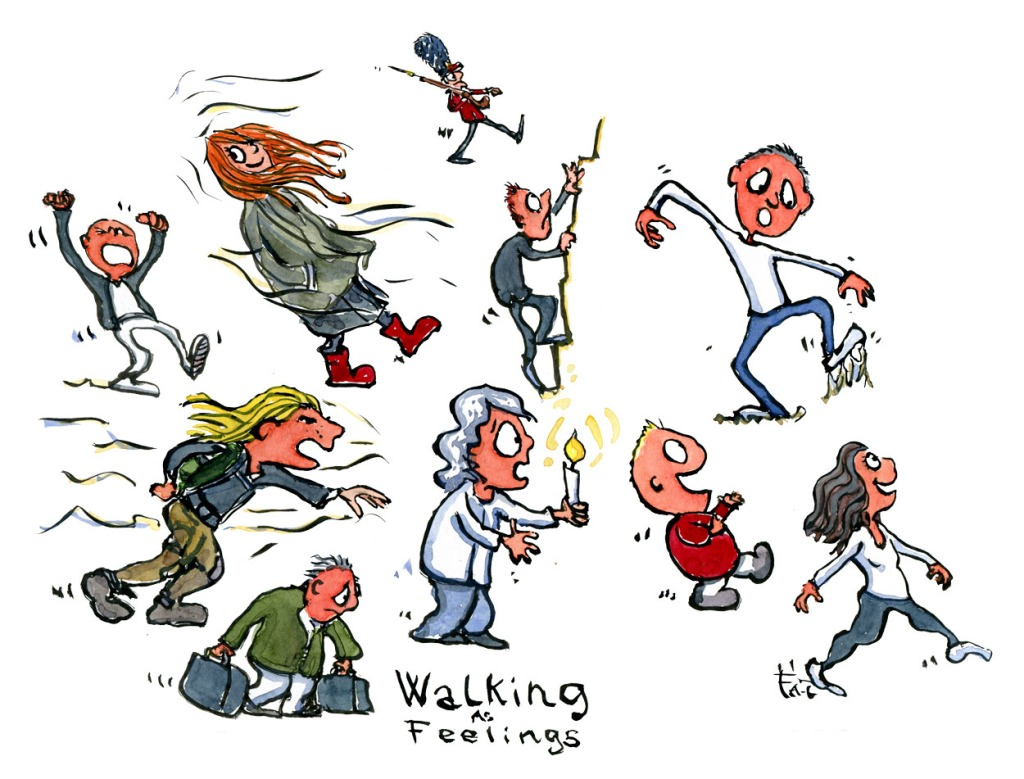People walking in different ways