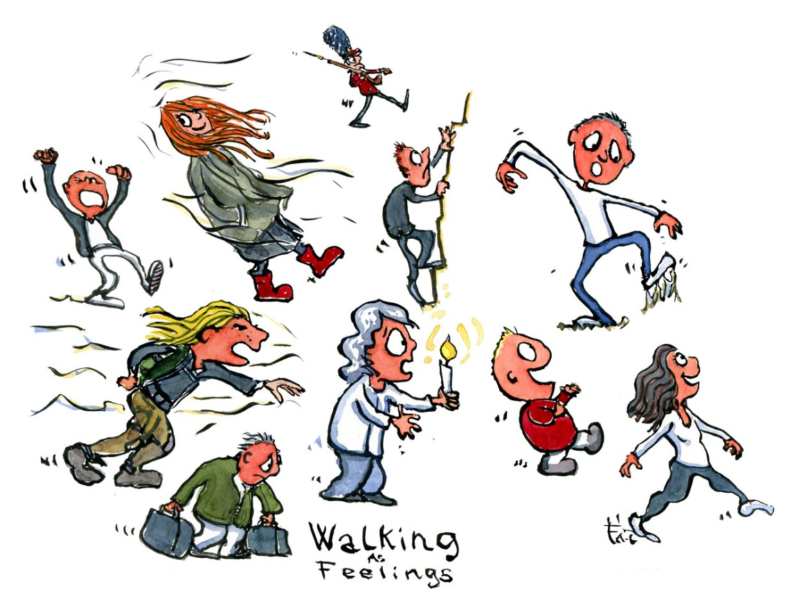 walking as feelings