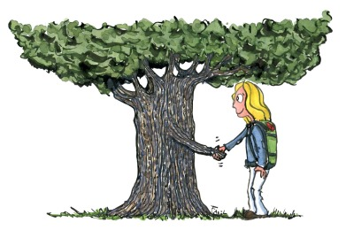 Connecting with trees can help thrive, well-being and happiness, so say hello next time you are close to one - It could be the beginning of a beautiful friendship...