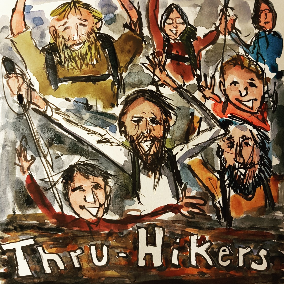 Thru-hikers moment sketch