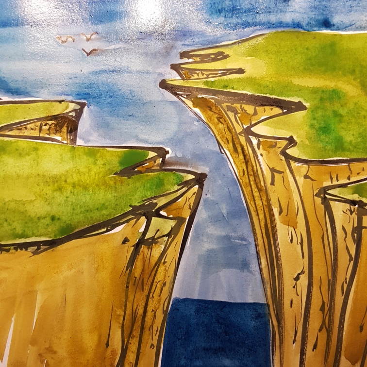 illustration of a gap. Drawing by Frits Ahlefeldt