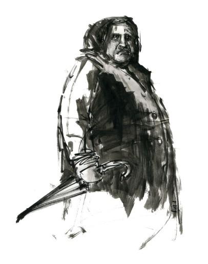 ink-sketch-big-man-with-umbrella-by-frits-ahlefeldt-fss1